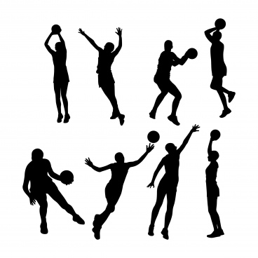Netball pictures free vector download (2 Free vector) for