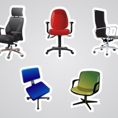 Office Chair Vector Blue Patio Cushions Free Download 423 For Commercial Use Icon Modern Colored 3d Design
