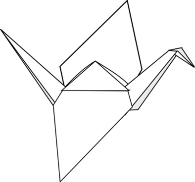 Origami crane vector Free vector for free download about