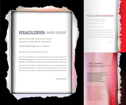 Free adobe illustrator report cover page template free vector ...