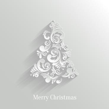 White Christmas Backdrop Free Vector