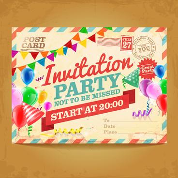 party invitation clip art free vector