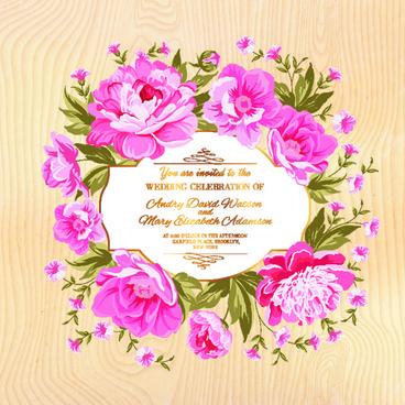 flower border wedding invitation free