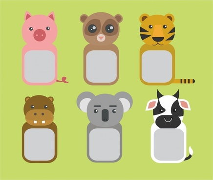 animal frame free vector