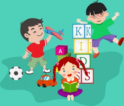 kids games free vector