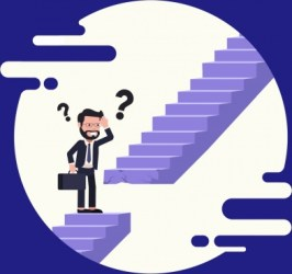 stairs problem cartoon background confused vector svg interrupted graphic ai