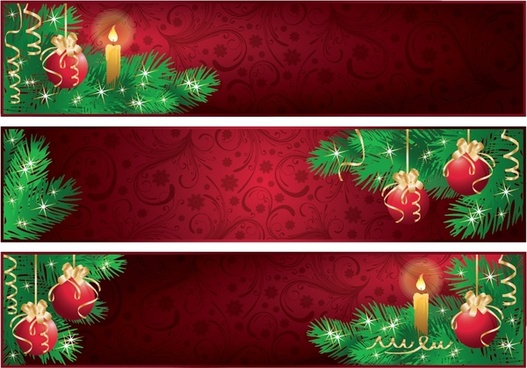 christmas banner free vector