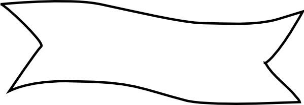 Ribbon Title clip art