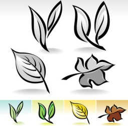 Simple leaf border free vector download 12 646 Free vector for commercial use format: ai eps cdr svg vector illustration graphic art design