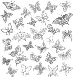 Butterfly outline free vector download 11 216 Free vector for commercial use format: ai eps cdr svg vector illustration graphic art design