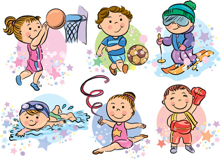 Sports people cartoon vector Free vector in Adobe Illustrator ai ( .ai ) vector illustration graphic art design format format for free download ...