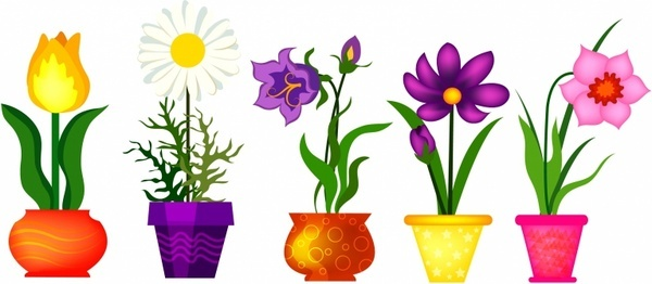 spring flowers clip art free vector