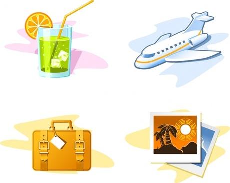 Travel theme vector fantasy children drawings Free vector
