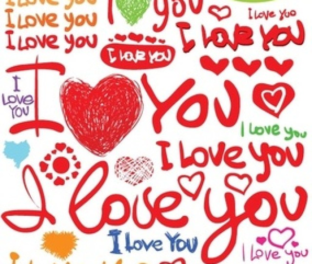 Valentine Day Clip Art Handpainted English Fonts