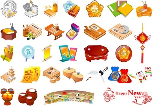 chinese elements free vector