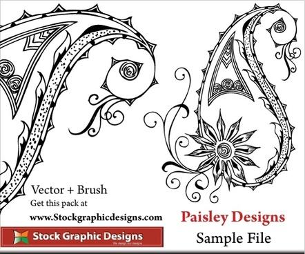 free printable paisley stencils