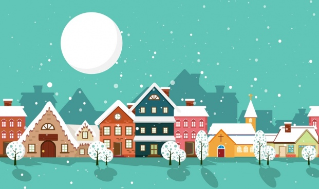 Dreaming About Wallpaper Falling Off Colorful Houses Free Vector In Adobe Illustrator Ai Ai