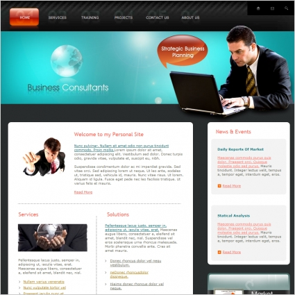 Business Consultants Template Free Website Templates In