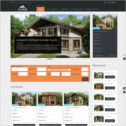 A property manager's responsibilities include the daily administration and operation of rental properties. Real Estate November Free Joomla Template Free Website Templates In Css Html Js Format For Free Download 2 53mb