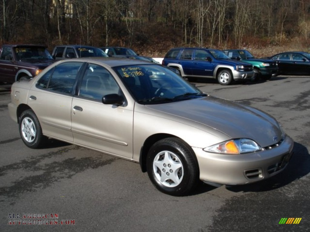 2002 Chevrolet Cavalier Sedan In Mayan Gold Metallic