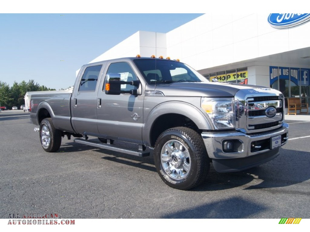 hight resolution of 2012 f350 super duty lariat crew cab 4x4 sterling grey metallic black photo