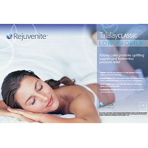 Rejuvenite Talalay Classic Low Profile Latex Pillow