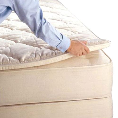 Royal Pedic Natural Pillowtop Mattress Pads 2 3 Or 4 Inch Toppers