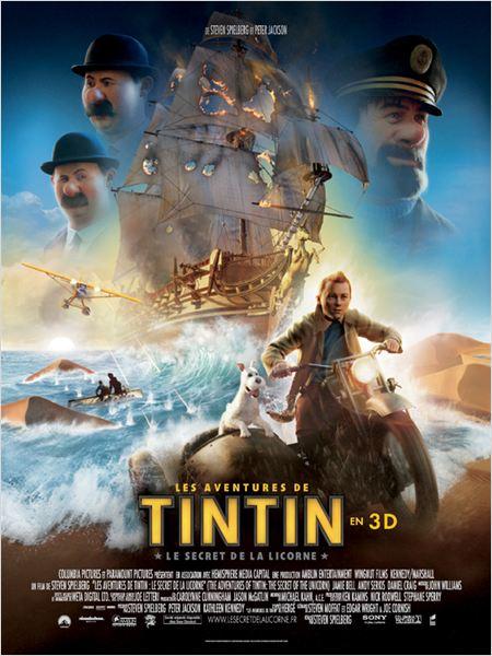 Les Aventures de Tintin : Le Secret de la Licorne : affiche