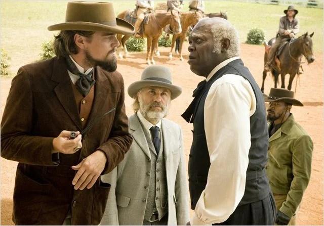 Django Unchained : photo Christoph Waltz, Leonardo DiCaprio, Samuel L. Jackson