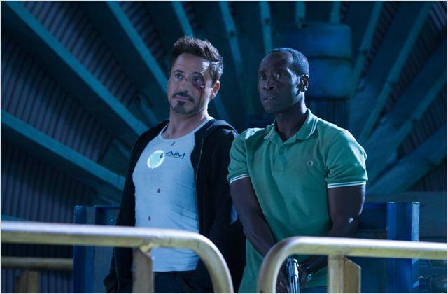 Iron Man 3 : photo Don Cheadle, Robert Downey Jr.