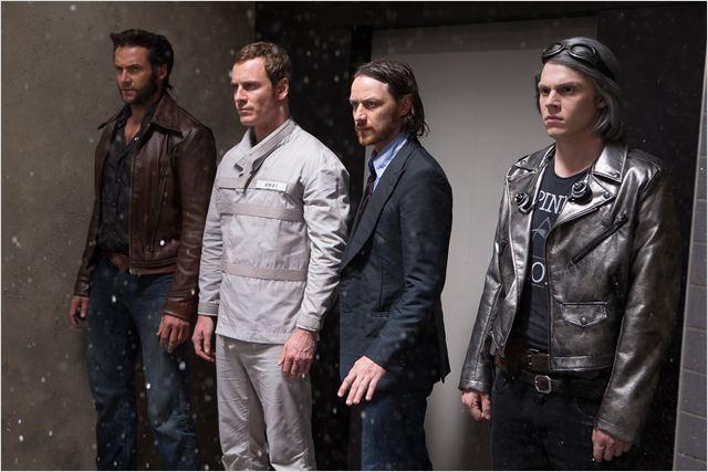 X Men: Days of Future Past : Photo Evan Peters, Hugh Jackman, James McAvoy, Michael Fassbender