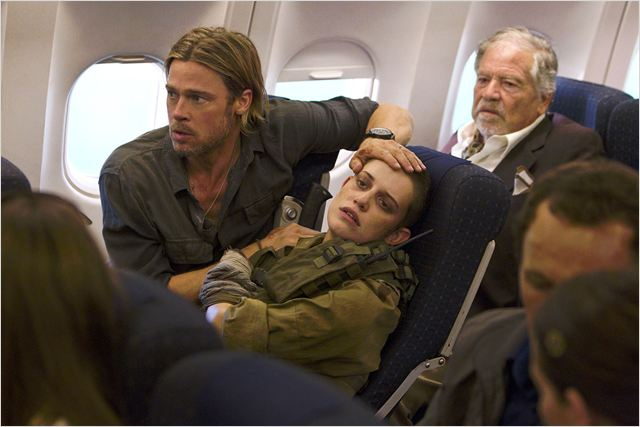 World War Z : Photo Brad Pitt, Daniella Kertesz