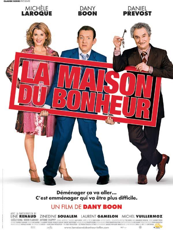 """Affiche du film de Dany Boon """"La maison du bonheur"""""""