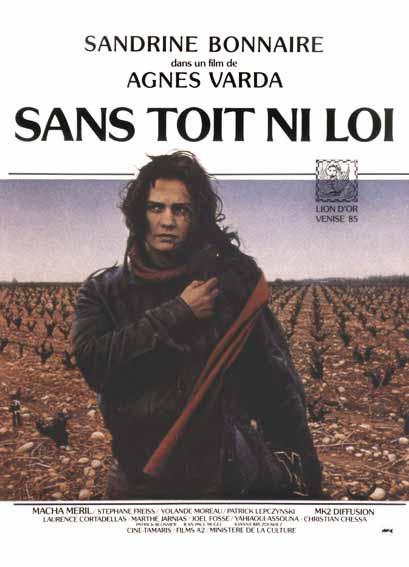 """Affiche du film d'Agnès Varda """"Sans toit ni loi"""""""