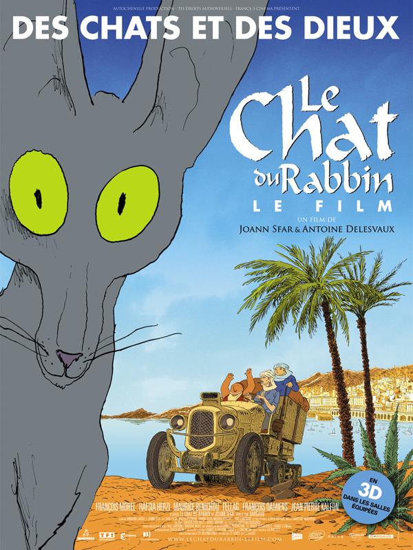 """Affiche du film """"Le chat du rabbin"""""""