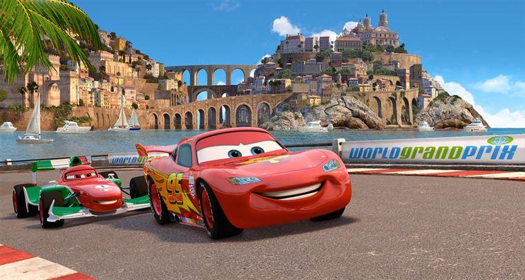 Flash McQueen défie Francesco Bernoulli sur ses terres d'Italie