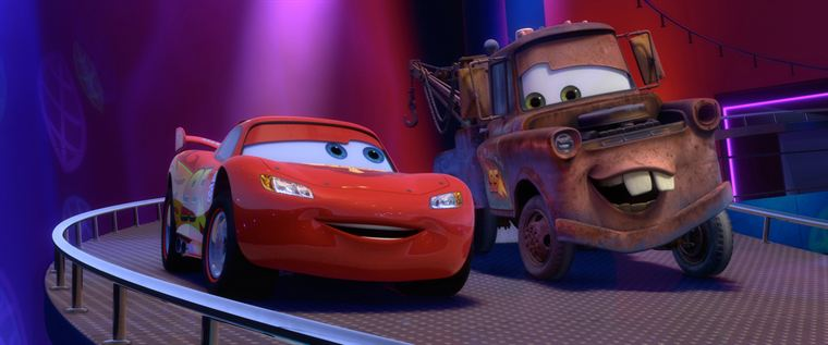 Flash McQueen et Martin, les deux fidèles amis de Radiator Springs