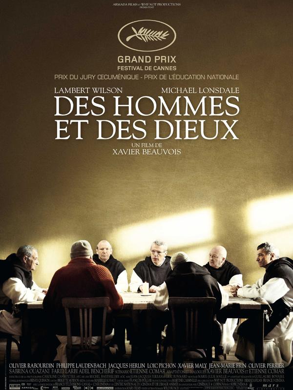 """Affiche du film de Xavier Beauvois """"Des hommes et des dieux"""" - source : Allo Ciné"""