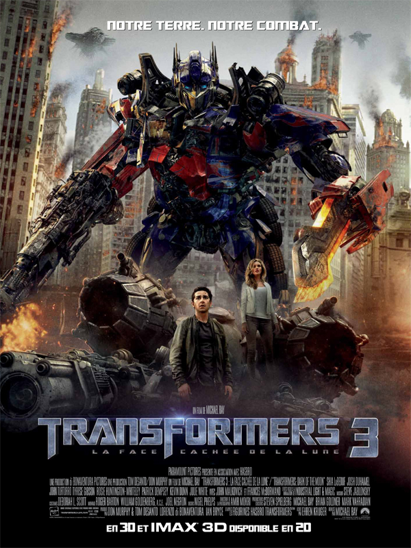 """Affiche du film """"Transformers 3 : la face cachée de la Lune"""""""