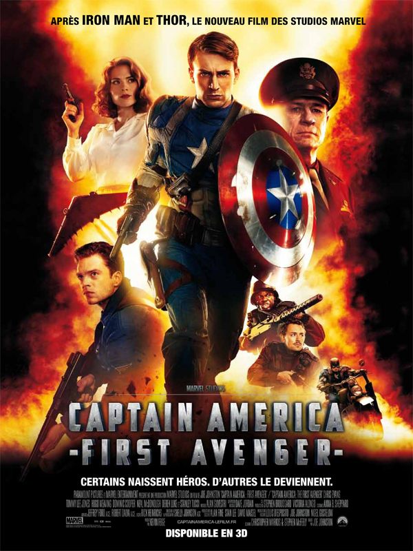 "Affiche du film ""Captain America : First Avenger"""