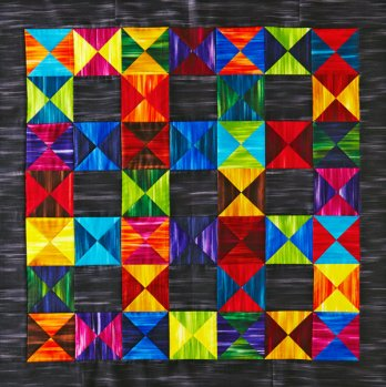 Striking Hourglass Quilt  AllPeopleQuiltcom