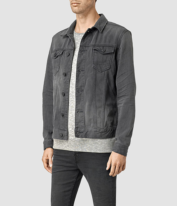 Men's Eucild Denim Jacket (Grey) - product_image_alt_text_2