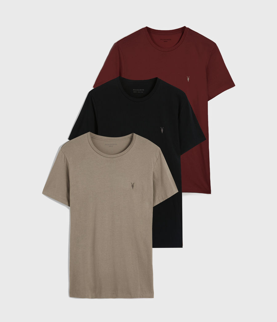 Men's Tonic Crew T-Shirt 3 Pack (optic_black_grey) - Image 1