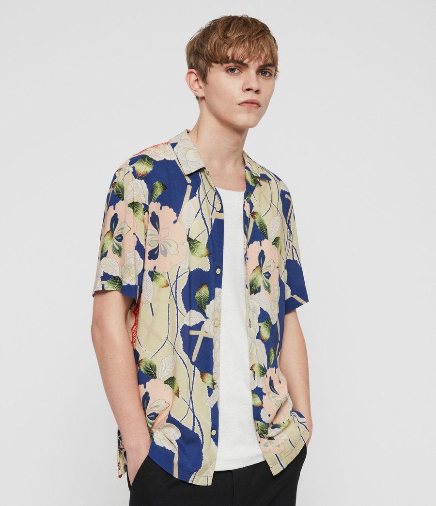 Men's Fuyugi Short Sleeve Shirt (INK NAVY) -
