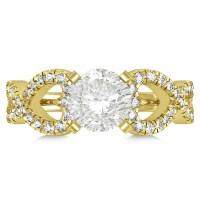 Diamond Heart Shaped Engagement Ring Setting 18k Yellow ...