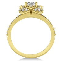 Diamond Flower Style Engagement Ring 14k Yellow Gold 1 ...