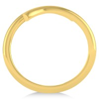 Designer Plain Gold Ring
