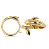 Summertime Dolphin Fashion Ring 14k Yellow Gold - Allurez