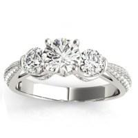 Diamond 3 Stone Engagement Ring Setting Platinum (0.66ct ...