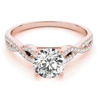 Diamond Twist Engagement Ring Setting 14k Rose Gold (0 ...